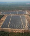 """Luftbild von dem Solarpark """"Lieberose"""""""