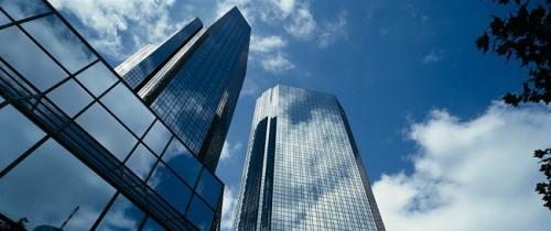DB Frankfurt Zentrale in Am Ziel: Deutsche Bank schluckt Postbank noch 2010