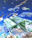 flügel euro geld fliegen