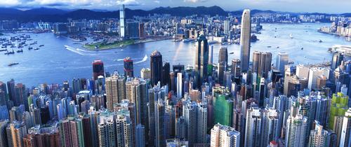 Hongkong-skyline-topteaser in Büromieten: Hongkong übernimmt die Spitze