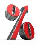 Percentage up - shutterstock_58302592