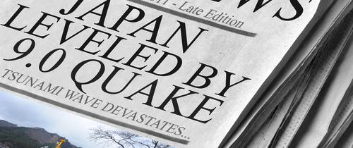 Japan-krise-newspaper-cover in Japan-GAU und Nahost-Unruhen bremsen Börsen-Euphorie