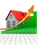 Haus-chart-shutt 66771730-127x150 in Niedrige Baufi-Zinsen lassen Immobilienkäufe ansteigen