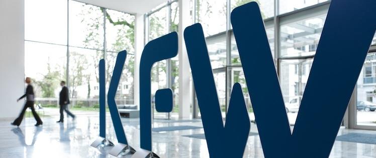 KfW-Logo in Starkes Fördergeschäft der KfW