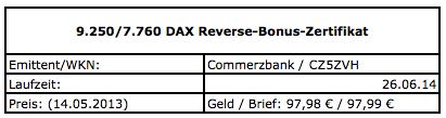 Reverse-bonus-zertifikat in Geht dem DAX bald die Luft aus?