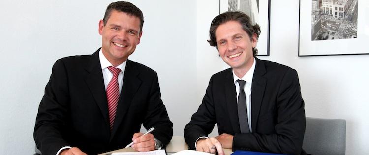 Joachim Geiberger, Morgen & Morgen und Dr. Mark Ortmann, ITA, freuen sich über die künftige Zusammenarbeit.
