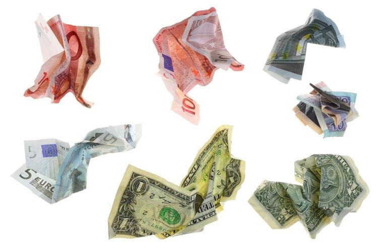 Geld in Profianleger misstrauen der Wirkung des billigen Geldes