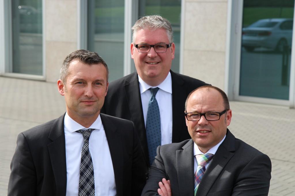 Die neue Adcuri-Troika: Michael Albrecht, Michael Groß, Markus SchŸller (von links).