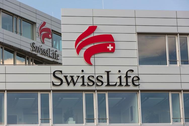 Blick auf die Zentrale von Swiss Life Deutschland in München bei Garching.