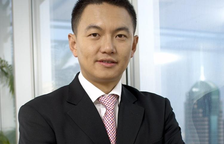 Hong-Chen-Kopie in UBP zeigt in Asien Flagge