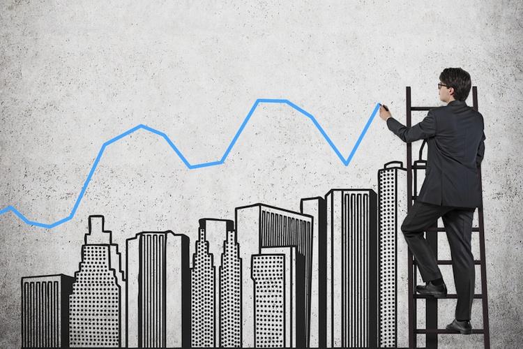 Buerotuerme-chart-shutt 227542951 in CBRE: Kapitalwerte von Gewerbeimmobilien steigen um 1,8 Prozent