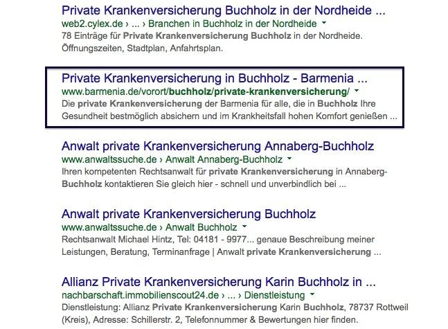 Google-Suchbegriff