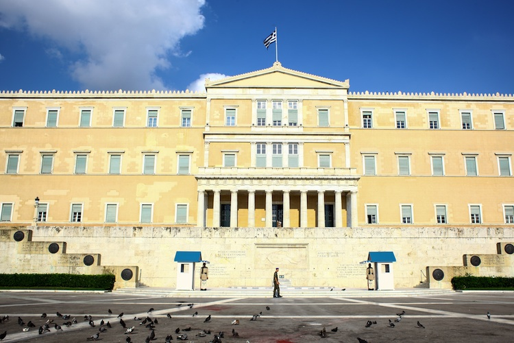 Athener-Parlament in Parlament in Athen soll Sparprogramm heute beraten