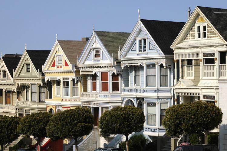 Haeuser San-Francisco Hhutterstock 37133296-Kopie-2 in USA: Verkäufe neuer Häuser im Minus