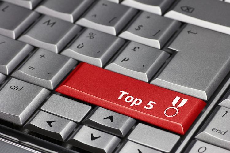 Top-5 in Die fünf meistgelesenen Artikel der letzten Woche
