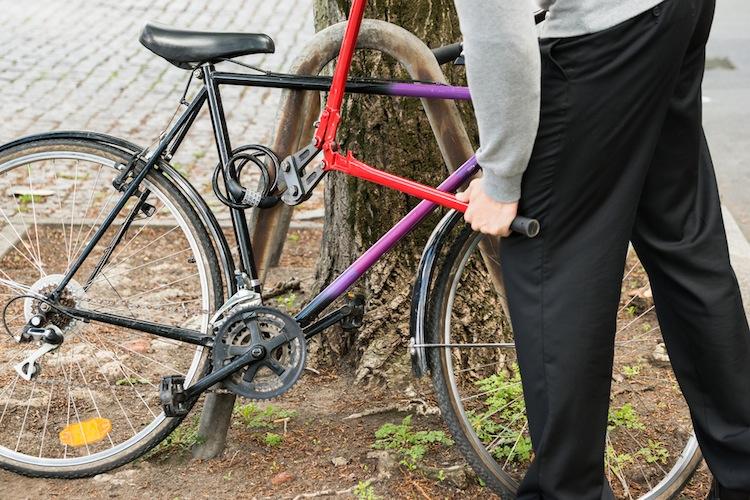 Fahrraddieb in Fahrraddiebe: Versicherer beziffern Schaden auf 100 Millionen Euro