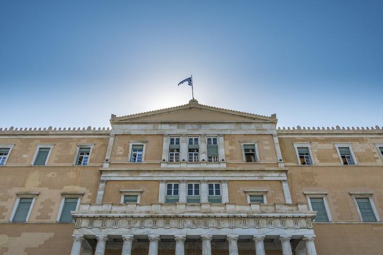 Griechisches-parlament in Zurückhaltung am Aktienmarkt vor Abstimmung in Athen
