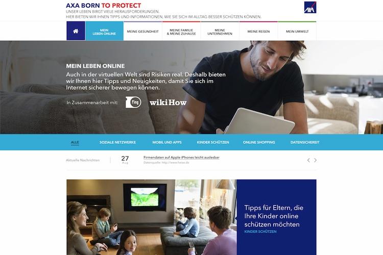 Datenschutz: Axa startet Informationsangebot für mehr Sicherheit im Internet