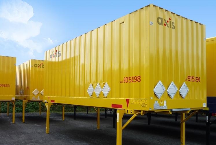 Wechselkoffer-Axis-Intermodal in Solvium: Erstes reguliertes Produkt in Planung