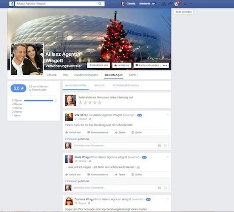 Allianz auf Facebook
