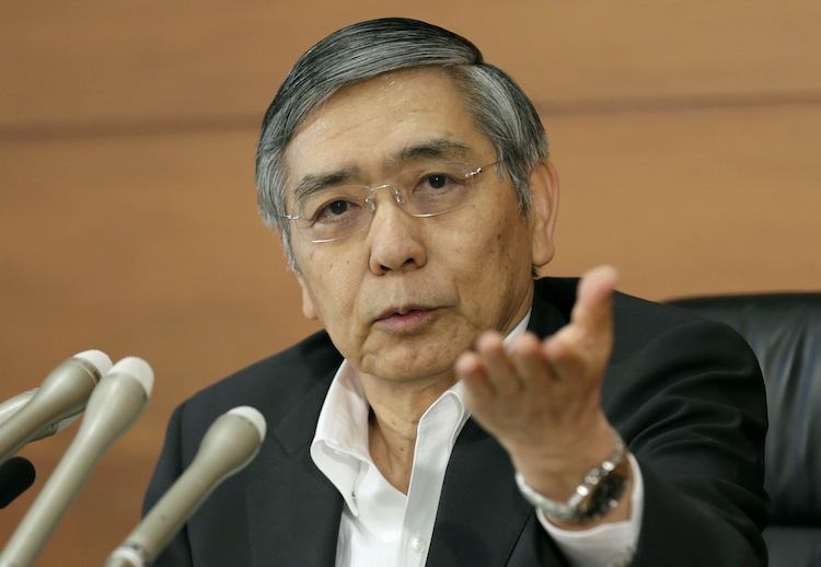 Kuroda in Japanische Notenbank verschiebt erneut Inflationsziel