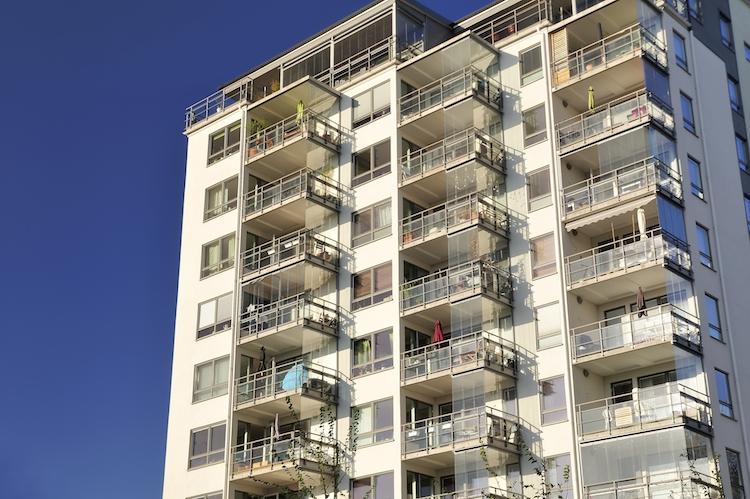 Plattenbau Schweden Wohnhaus Hochhaus