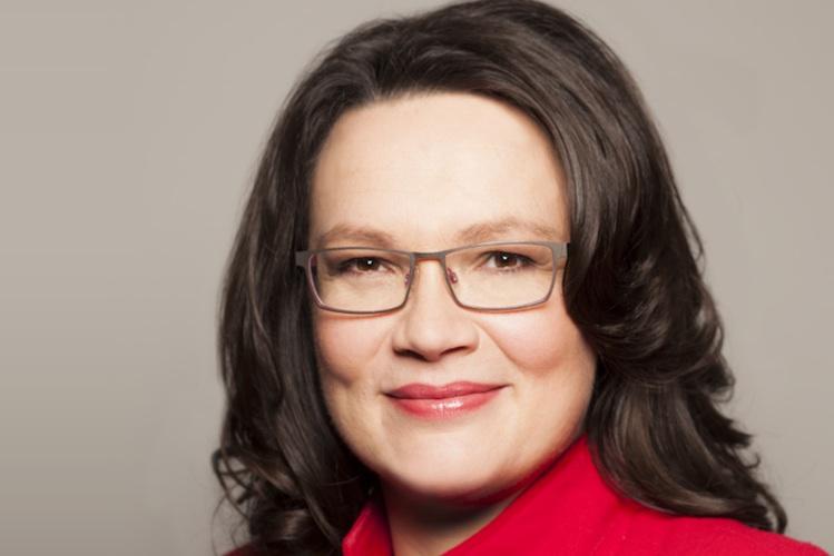Bundesarbeitsministerin Andrea Nahles (SPD) wertete die Einigung bei Werkverträgen und Leiharbeit am Mittwoch als historischen Schritt.