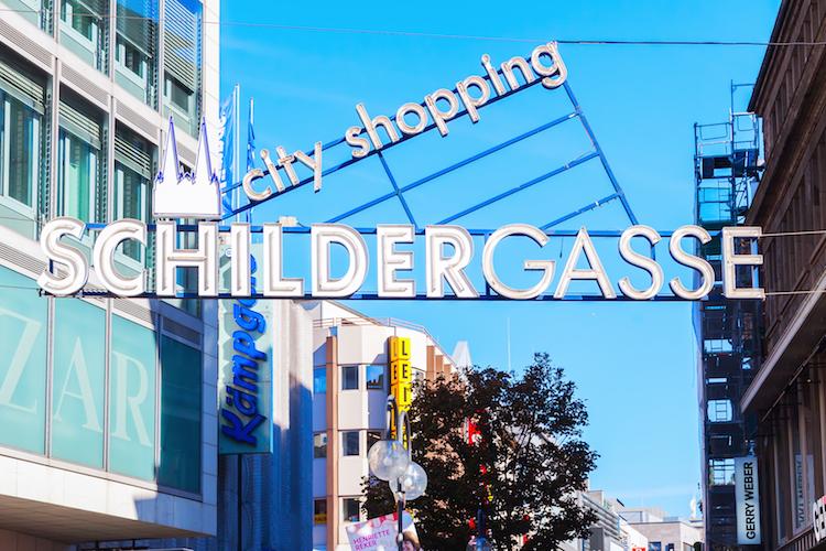 Schildergasse in Kölner Schildergasse holt Top-Platzierung unter deutschen Einkaufsstraßen
