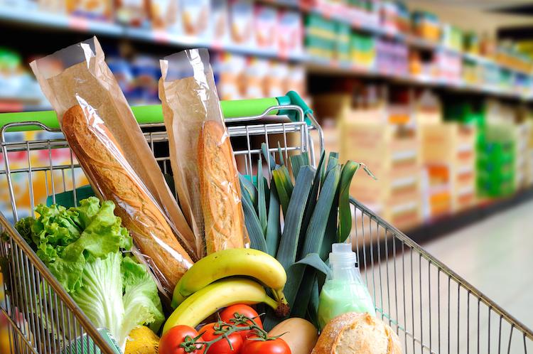 Einkaufswagen in Inflation steigt im Juli erneut leicht an