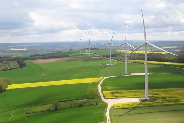 Sechs Turbinen des Typs Senvion MM92 erzeugen eine Gesamtleistung von 12,3 MW.