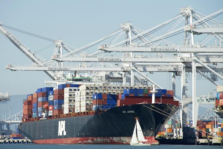Export Hafen Oakland Kalifornien