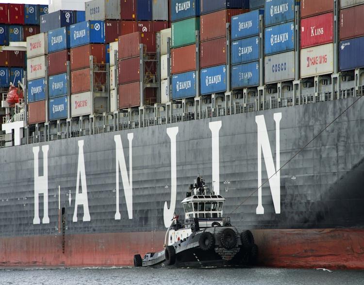 Hanjin Containerschiff