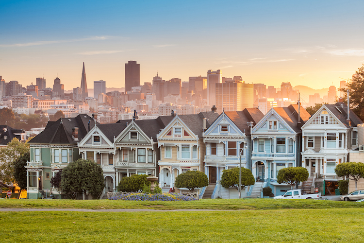 haus painted ladies san francisco alamo square shutterstock_184847318