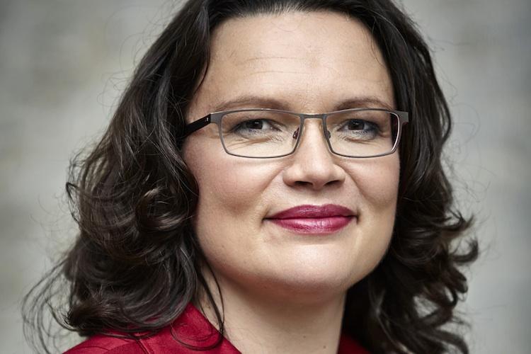 Andrea-Nahles-SPD in Nahles: Stabilisierung des Rentenniveaus wird Beiträge steigen lassen
