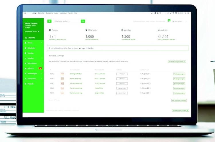 Laptopbild WWK-bAVnet in WWK startet Online-Portal für bAV-Verträge