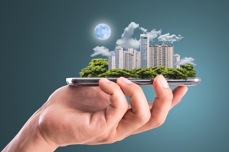 Smart-city-smartphone-stadt-digitalisierung-shutterstock 219573052-Kopie in Digitalisierung: Sektorales Denken ist nicht zukunftsfähig