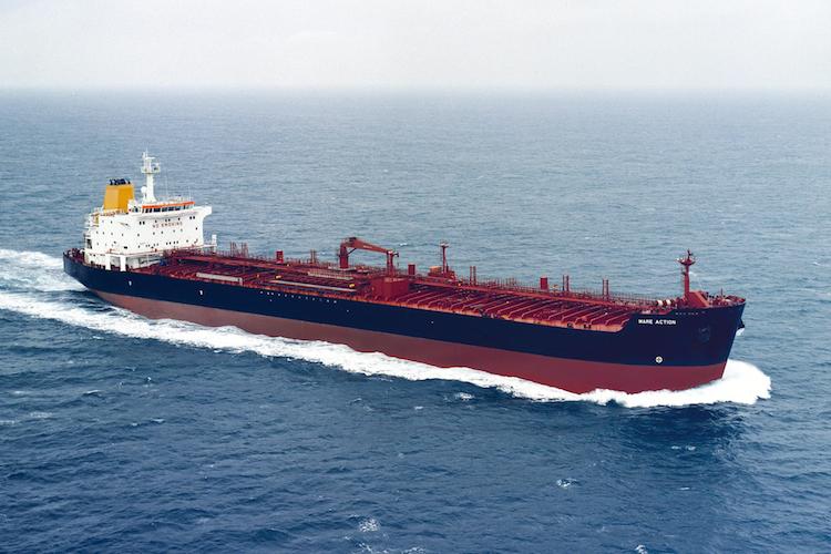 """Frachter """"MareAction"""" aus der Marenave-Flotte"""