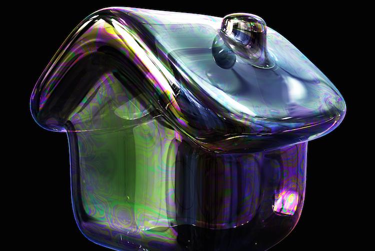 Housing-property-bubble-blase-haus-immobilienblase-shutterstock 377620741-Kopie in Die Gefahr einer Immobilienblase steigt