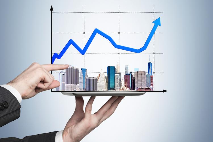 Haus-immobilien-markt-gewinn-chart-shutterstock 227408647 in Deutscher Immobilienfinanzierungsindex: Branche erwartet stabile Marktbedingungen