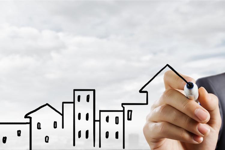 Haus-zeichnen-chart-immobilien-markt-shutterstock 298298096 in EPX: Preise für Wohnimmobilien einheitlich gesunken