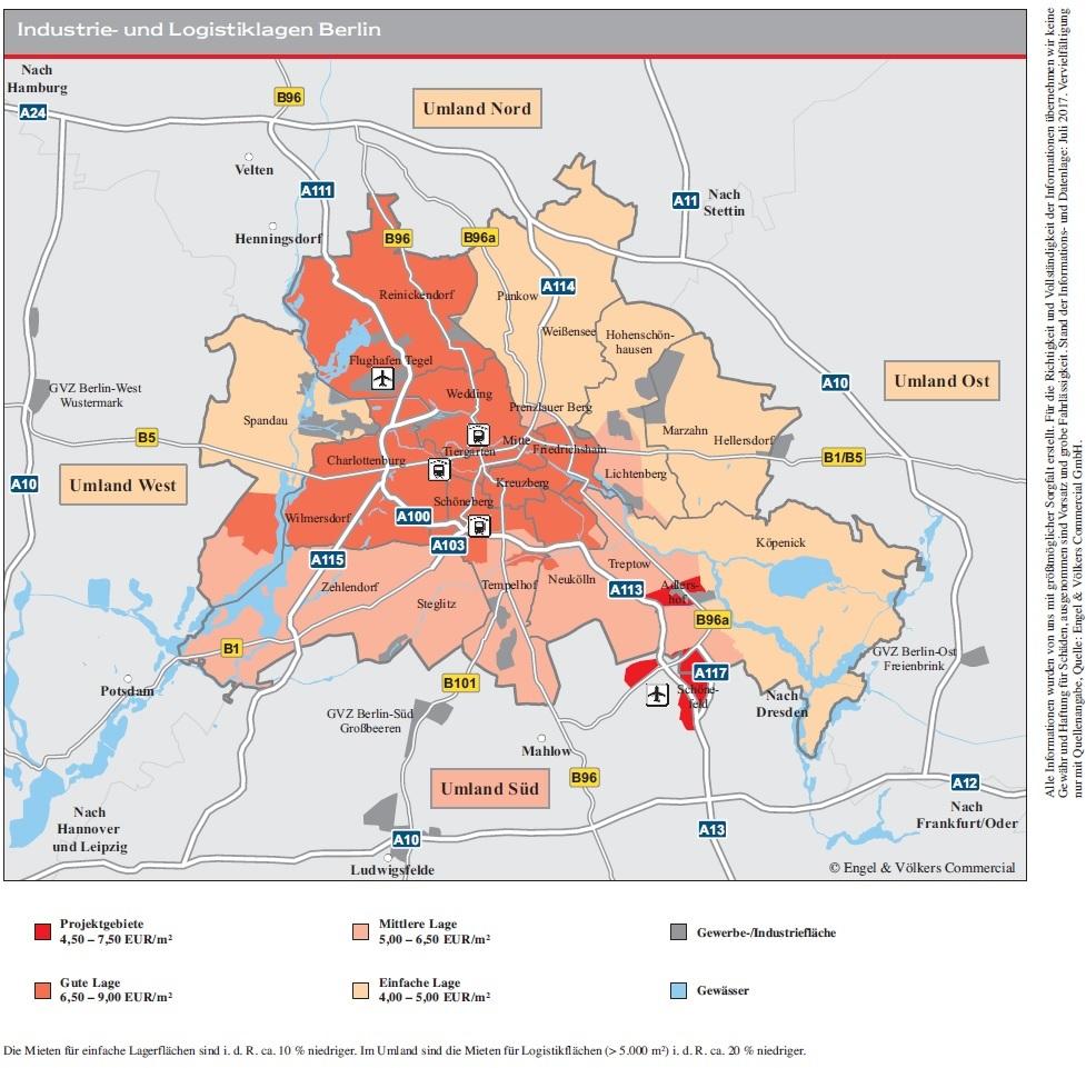 170714 Karte IND-Berlin-H1-2017 in Berlin: Nachfrage nach Industrie- und Logistikimmobilien wächst