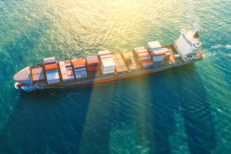 Containerschiffe machen den Großteil der deutschen Flotte aus.