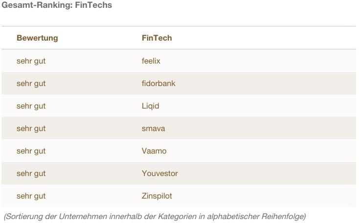 Ranking Fairness Fintechs
