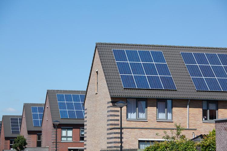 Solaranlage-Haus in Trend zum Repowering von Solaranlagen