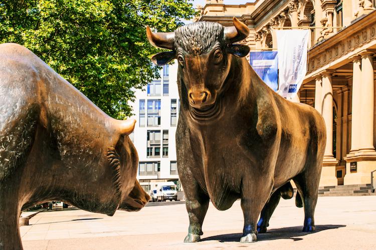 Bulle-baer-frankfurt-boerse-shutterstock 781734469 in Börsenhandel in Frankfurt erliegt technischer Störung