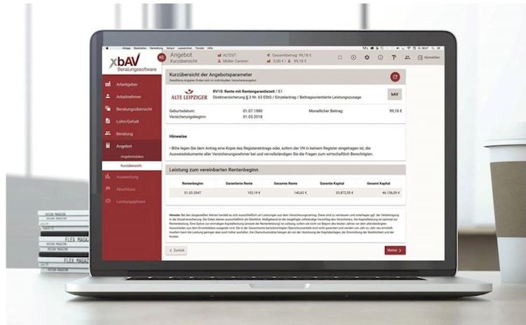 XbAV in Alte Leipziger in bAV-Berater aufgenommen