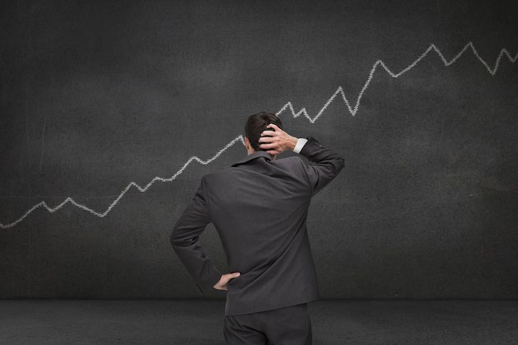 Chart-kurve-index-mann-linie-shutterstock 148144208 in Stimmung in der Finanzbranche sinkt
