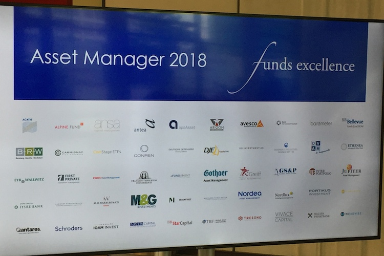 Branchentreff der besten Asset Manager: die funds excellence 2018