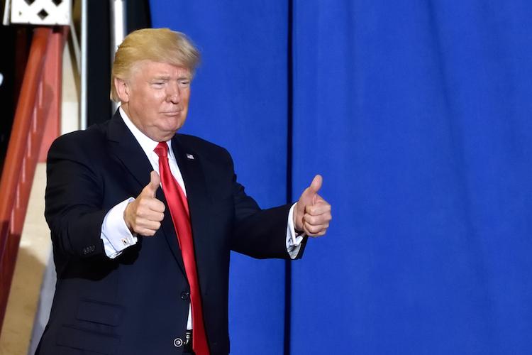 Trump-daumen-hoch-shutterstock 1087344797 in Trump: Noch 18 Monate bis zur Wahl und die Chancen steigen