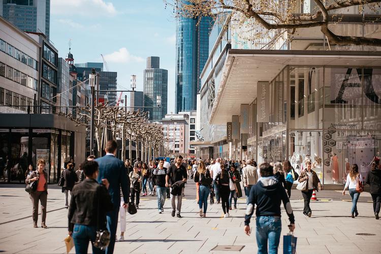 Studie: Frankfurter Zeil meistbesuchte Einkaufsstraße in Deutschland